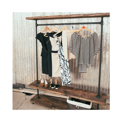 ird shelf industrial clothing rack rustic furniture