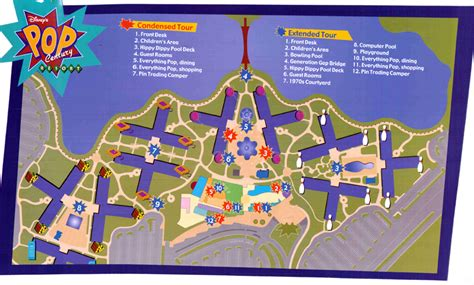 pop century resort map walt disney world disney world vacation information guide intercot walt disney world