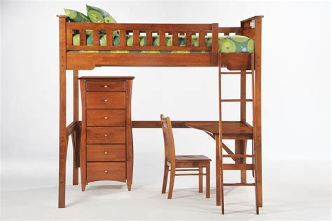 bed frame with desk wood size loft bed frame with desk feat dresser