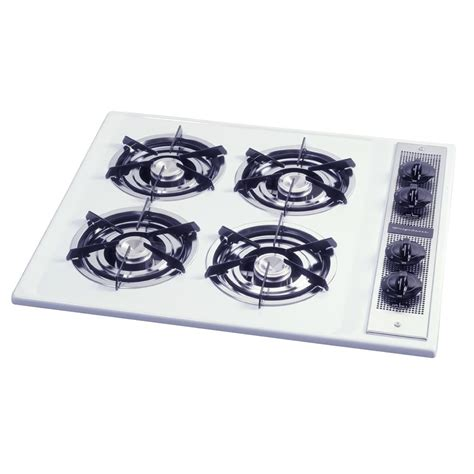 26 Inch Gas Cooktop shop frigidaire 174 26 inch gas cooktop color white at lowes