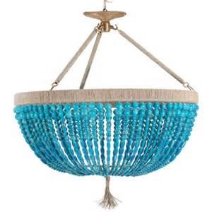 Turquoise Beaded Chandelier Light Fixture June Bloom Designs Blue Mondays