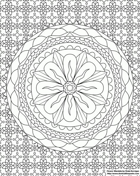 challenging mandala coloring pages difficult mandala coloring pages coloring home