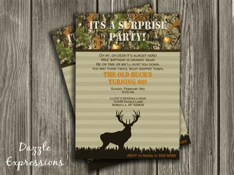 printable hunting birthday invitations printable hunting surprise birthday invitation camo