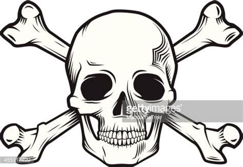 skull and bones vector art getty images