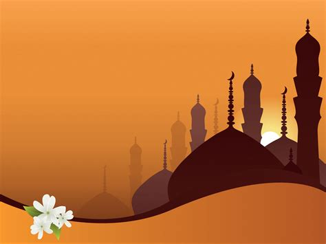 ppt templates free download islamic a mosque on orange powerpoint templates religious free