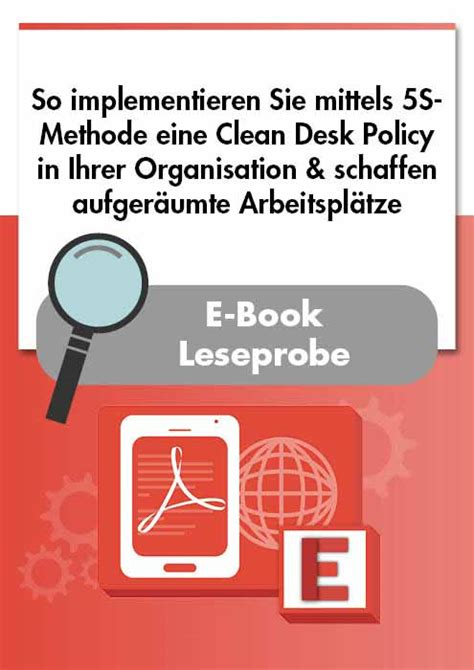 Sle Clean Desk Policy by E Book Implementierung Einer Clean Desk Policy Mittels