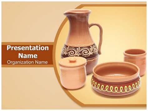 pottery powerpoint template background