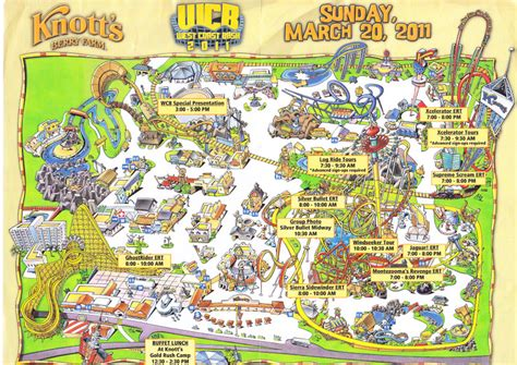 knotts berry farm map knott s berry farm 2011 west coast bash guide and map