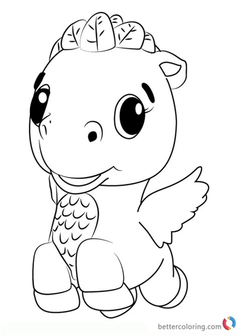 cloud ponette  hatchimals coloring pages