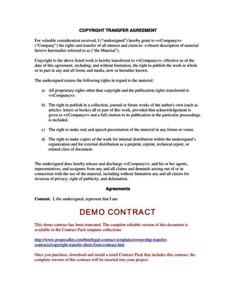 copyright contract template free copyright contract template free sletemplatess