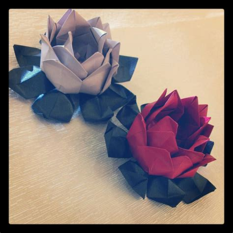 Paper Folding Lotus - origami lotus flower by origamipanama on deviantart