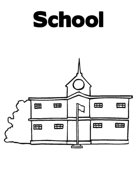 School Coloring Child Coloring School Coloring Pages