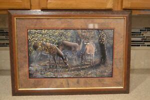 vintage home interiors gifts deer picture   ebay