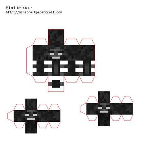 Minecraft Mini Papercraft - papercraft mini wither