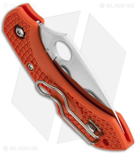 orange spyderco dragonfly spyderco dragonfly 2 knife orange frn 2 25 quot satin