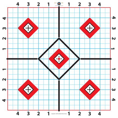 printable targets for zeroing pin free rifle targets on pinterest