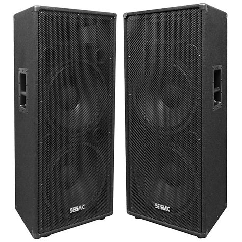 dj speaker box cabinet pair of dual 15 quot pa dj speaker cabinets with titanium