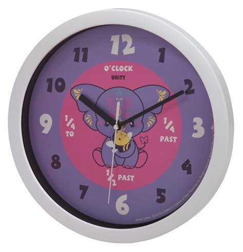 bedroom wall clocks unity children s bedroom nursery purple yara elephant wall clock pink chillies ebay