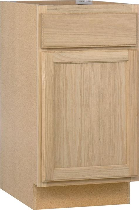 Discount Unfinished Kitchen Cabinets Unfinished Oak 18 Inch Base Cab B18ohd Canada Discount Canadahardwaredepot