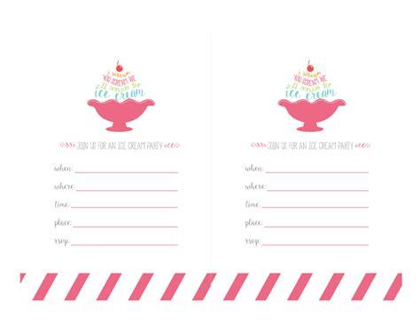 free printable invitations ice cream party ice cream printables invitations print short stop