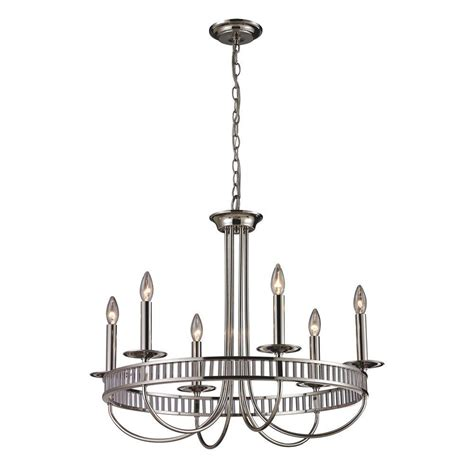 Early American Chandelier Titan Lighting Early American 6 Light Vintage Rust Ceiling Mount Chandelier Tn 7650 The Home Depot