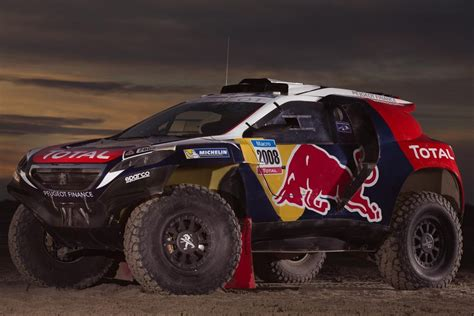 peugeot dakar peugeot 2008 dkr ready to race at dakar rally 2015