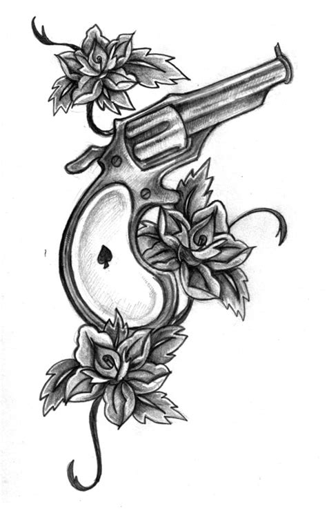 handgun tattoo designs gun tattoos and designs page 9