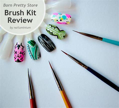 easy nail art with thin brush nailuminium bp store review brushes acrylic paint