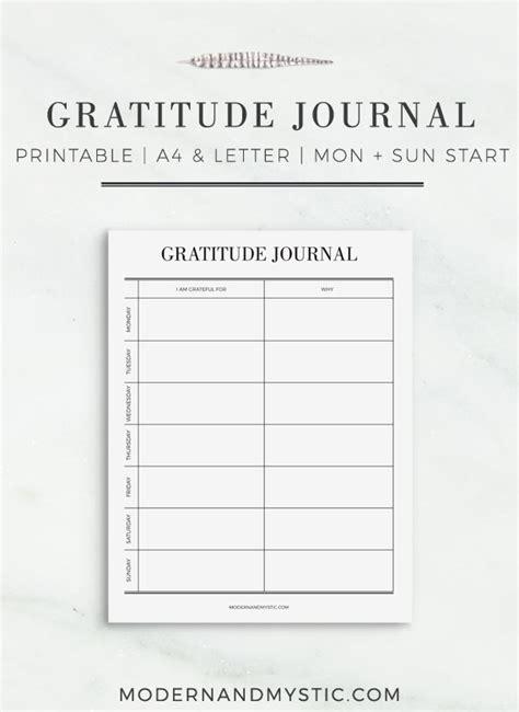 printable gratitude journal template gratitude journal printable weekly planner page life