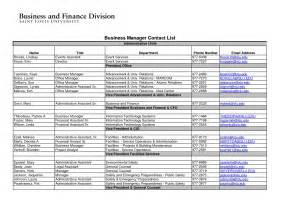 project directory template 7 best images of free printable business contact list