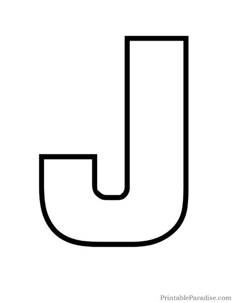 printable abc outline printable bubble letter j outline alphabet outlines
