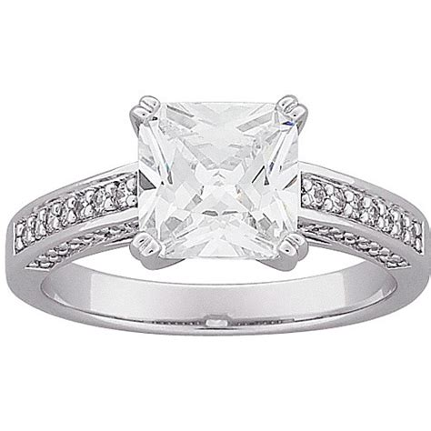5 5 carat t g w princess cut cz engagement ring in