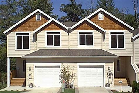 house plans for duplexes with garage duplex house plan with walkout basement 38010lb 2nd
