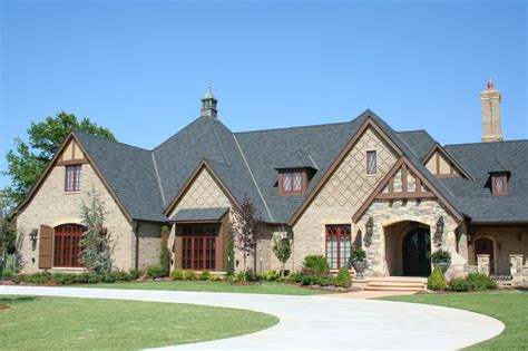 stone tudor style homes exterior home decorating ideas english tudor traditional exterior oklahoma city