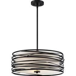 Hanging Pendant Light Quoizel Spl2820k Spiral Contemporary Mystic Black Drum Hanging Pendant Light Quo Spl2820k
