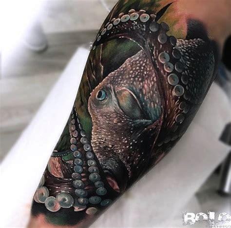 realistic octopus tattoo octopus realism on s forearm best