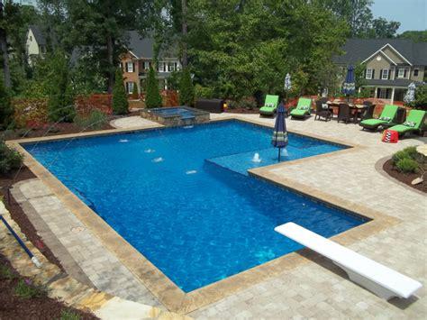 Backyard Pools Nc Swimming Pool Gallery Inground Swimming Pools By Jim Hinson