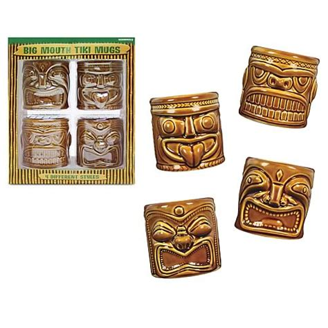 tiki barware big mouth tiki mugs accoutrements tiki barware at