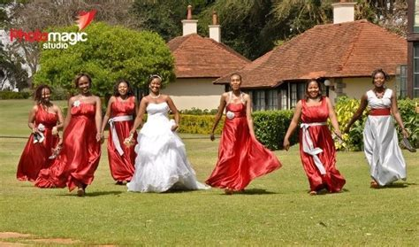 Kenyan bride's maids and their beauty   Weddings in