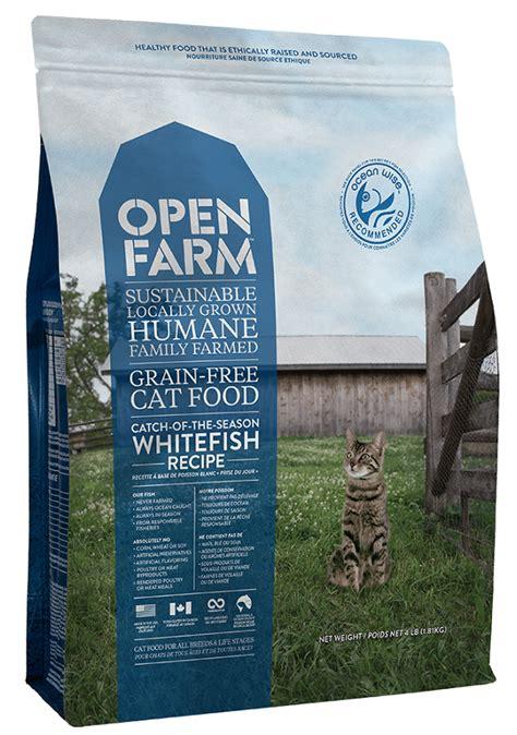 open farm food open farm grain free catch of the season whitefish recipe cat food petflow