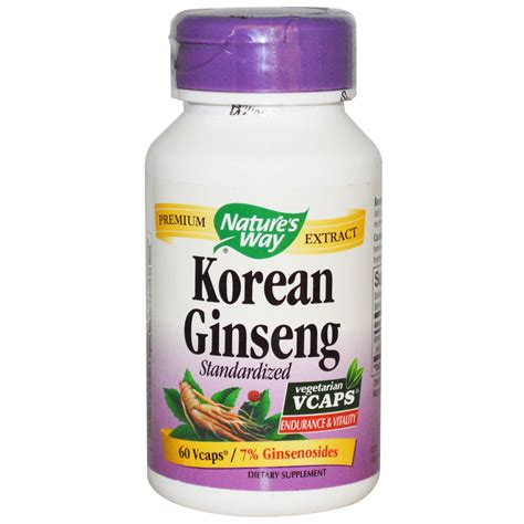 Korean Ginseng Nature S Health nature s way korean ginseng standardized 60 vcaps