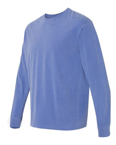 comfort colors long sleeve shirts comfort colors 6014 garment dyed heavyweight ringspun