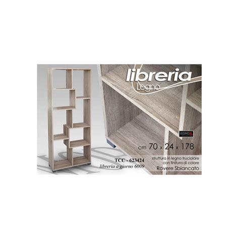 Mobile Scaffale by Mobile Scaffale Libreria A Giorno Rovere Sbiancato