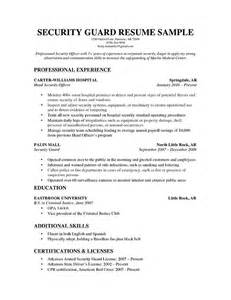 Resume Sample Security Guard by Security Guard Resume Sample Resume Genius