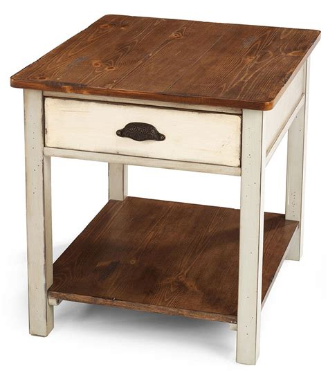 foley 2 drawer end table two tone flexsteel chateau two tone drawer end table conlin s