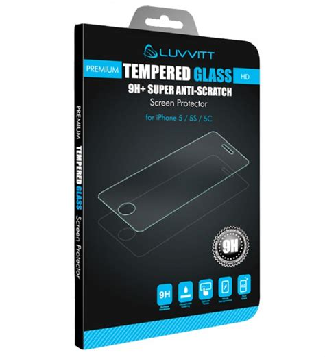 Temperedglass Iphone 5 luvvitt tempered glass screen protector for iphone 5 5s