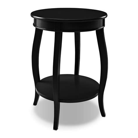 accent table black sydney accent table black value city furniture