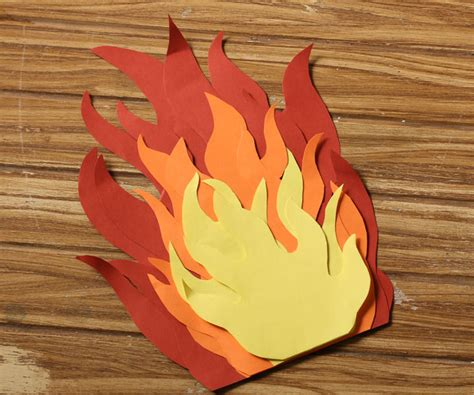 How To Make A Paper Cfire - paper flames template pictures to pin on pinsdaddy