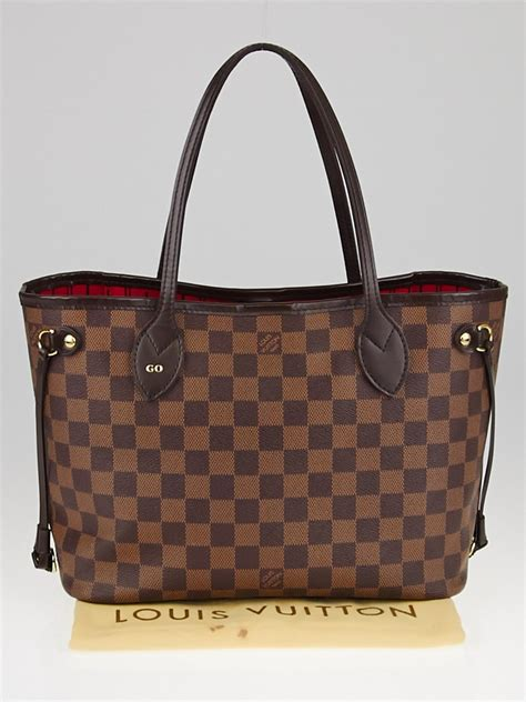 louis vuitton damier canvas neverfull pm bag yoogis closet