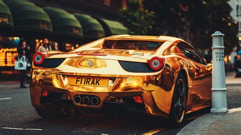 ferrari gold wallpaper gold ferrari 458 italia wallpapers and images wallpapers